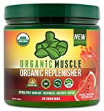 Organic Muscle Replenisher Electrolyte Powder– Organic Post Workout & Intra-Workout Vegan Recovery Drink. Maximum Hydration, w/Coconut Water, Mineral Salts, More. Non-GMO – Watermelon Flavor – 200g