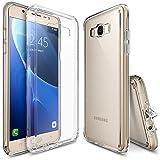 Galaxy J7 Case, Ringke [FUSION] Shock Absorption TPU Bumper Drop Protection Clear Hard Case for Samsung Galaxy J7 2016 (SM-J710F)- Clear