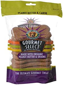 Nature'S Animals Dnt00608 Gourmet Select Organic Bone Shape Dog Biscuit, Peanut Butter And Carob, 13-Ounce