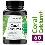 Coral Calcium Plus – Highly Ionizable Coral Calcium from the Caribbean Sea – Helps Balance pH Levels, Support Strong Bones & Teeth – Emerald Laboratories – 60 Vegetable Capsules