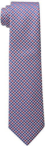 Wembley Big Boys Grenoble Check Tie, Red, One Size