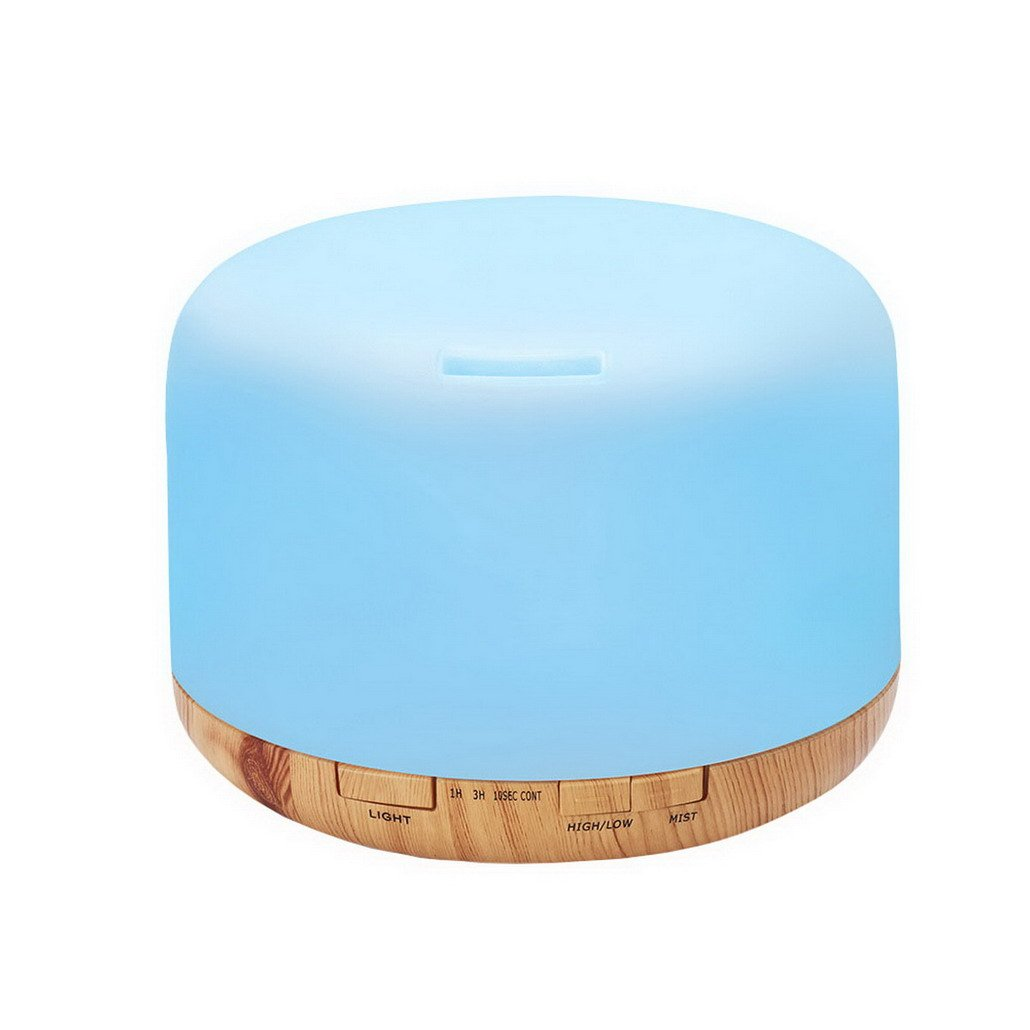 500ml Essential Oil Diffuser Cool Mist Humidifier Ultrasonic Aroma for Office Home Bedroom Living Room Study Yoga Spa
