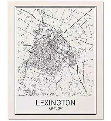 Lexington Poster, Map of Lexington, Lexington Map, City Map Posters, Modern Map Art, City Prints, Lexington Map Art, Minimal Print, City Poster, City Map Wall Art, Minimalist Posters, 8x10