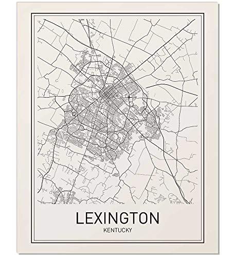Lexington Poster, Map of Lexington, Lexington Map, City Map Posters, Modern Map Art, City Prints, Lexington Map Art, Minimal Print, City Poster, City Map Wall Art, Minimalist Posters, ()