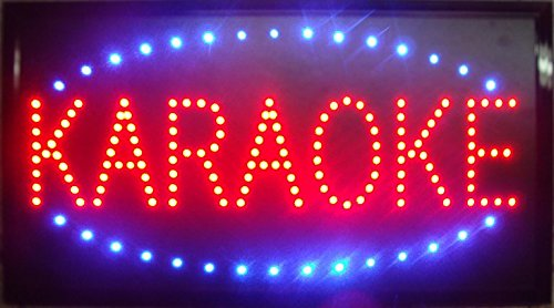 CHENXI Led karaoke neon sign new 48X25 CM indoor ultra bright flashing customed karaoke store Led sign (48 X 25 CM, B) by CHENXI