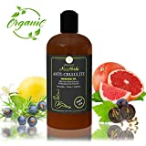 Organic Anti-Cellulite Massage Oil. 100% Pure Plant Based Professional Cellulite Treatment. Reduces Appearance of Cellulite, Tones and Detoxifies Skin. Fast Absorption for Quick Visible Results