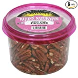 Klein's Naturals Jumbo Pecans, Raw Shelled (Pack of 6)