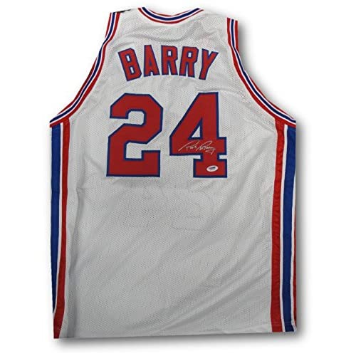 f2a9e8726ea high-quality Rick Barry Hand Signed Autographed New Jersey Nets White Jersey  Size L PSA