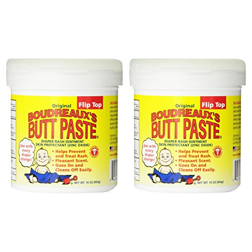 Paste Diaper Rash Ointment Jar (Boudreaux's Butt Paste, Diaper Rash Ointment, Jar 16 oz. (Quantity of 2))