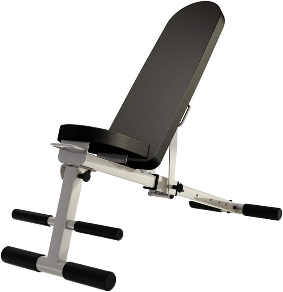 調節可能な折りたたみは、ボード多機能腹部ベンチホームジムフィットネスベンチに座る 黒 117*42*45cm