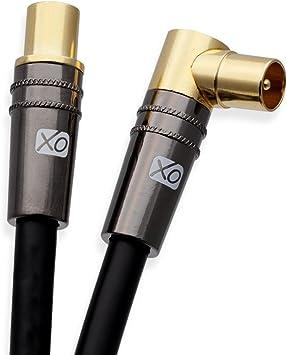 XO- Cable coaxial a?reo Negro 8m: Amazon.es: Electrónica