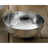 Hammered Aluminum Salad Bowl