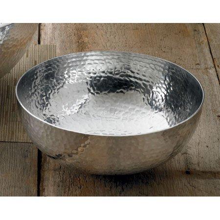 Hammered Aluminum Salad Bowl by India Handicrafts