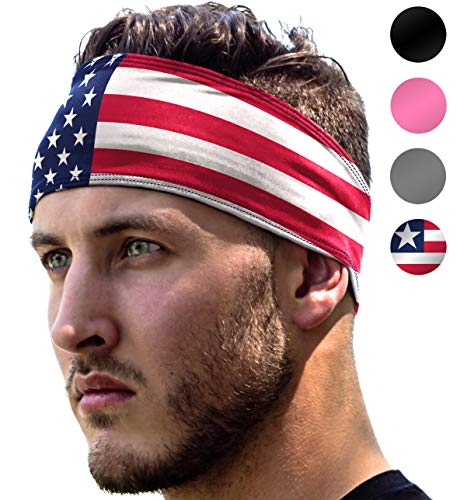 Workout Headband: UNISEX Fitness USA Flag Headbands For Wome