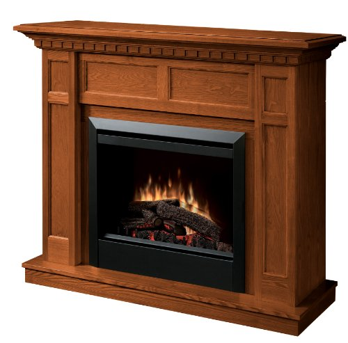 dimplex caprice dfp4743o traditional electric fireplace mantle with 23inch firebox oak