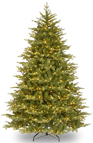 """National Tree 7.5 Foot """"Feel Real"""" Nordic Spruce Medium Tree with 900 Clear Lights, Hinged (PENS1-307-75) -  ADULT"""