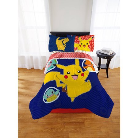 Pokemon Pika Pika Pikachu Kid's Bed in a Bag, Twin,