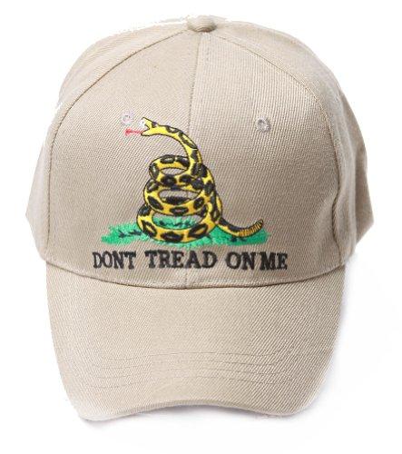 Vintage Don't Tread On Me Logo Snake Hat - Khaki