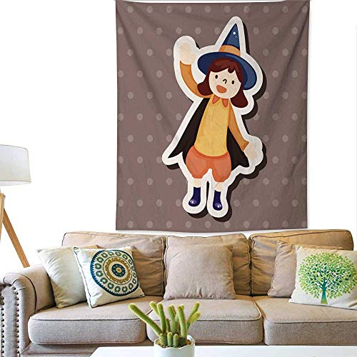 BlountDecor Art Tapestry Halloween Party Costume Theme Elements 70W x 93L INCH -