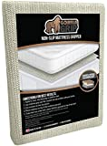 """The Original GORILLA GRIP Non-Slip Area Rug Pad & Mattress Gripper, Made In USA, Available in Many Sizes (Queen: 54"""" X 72"""")"""