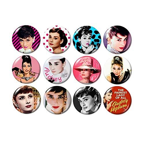 Audrey Hepburn Buttons Pins