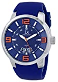 Joshua and Sons Men's JS64BU Analog Display Swiss Quartz Blue Watch, Watch Central