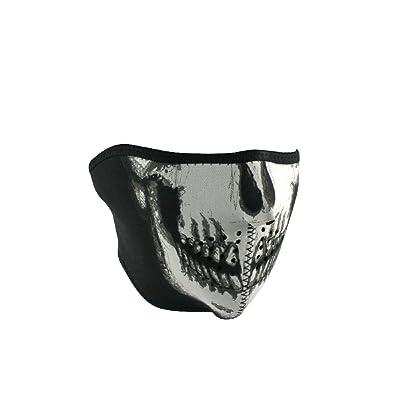 Zan Headgear WNFMO002H, Half Mask, Neoprene, Oversized, Skull Face