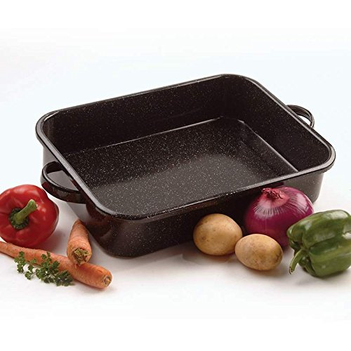 Granite Ware 17 Inch x 12 Inch x 3 1/4 inch Perfect Open Roaster