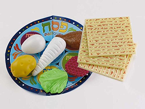 """10 Pieces Passover Play Seder Set in Mesh Bag 1"""""""