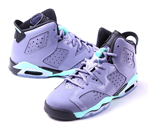 Nike Air Jordan 6 Retro GG, Scarpe da Corsa Bambina Rosa / Nero (Iron Purple / Bleached Turq-blck)