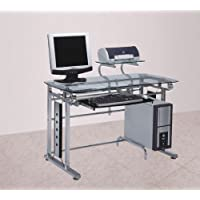 Acme 92040 Felix Computer Desk, Silver