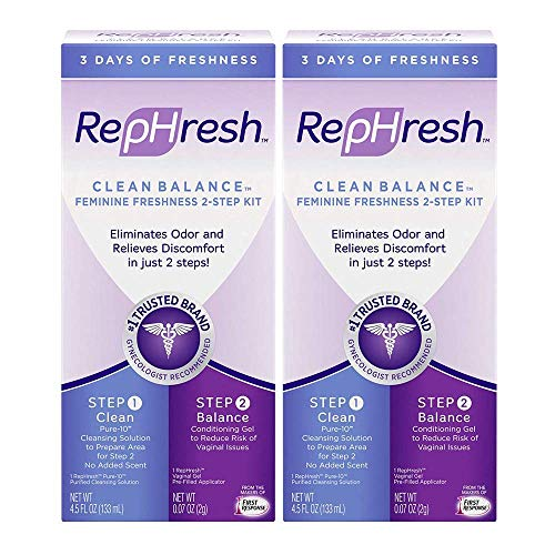 Clean Balance Feminine Freshness Kit (Part 1 Cleans: 4.5oz Bottle; Part 2 Balances: 0.07 oz Gel Applicator), Multi Pack