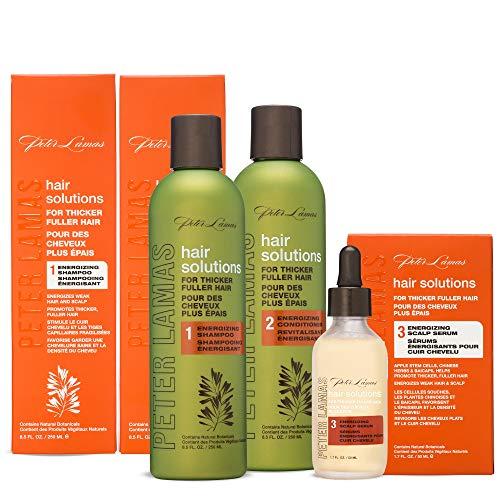 Peter Lamas Hair Solutions Energizing Shampoo, Conditioner & Serum Set, 3 Count