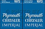 A MUST FOR OWNERS, MECHANICS & RESTORERS - THE 1972 CHRYSLER & IMPERIAL BODY REPAIR SHOP & SERVICE MANUAL INCUDES: Imperial Le Baron, New Yorker, New Yorker Brougham, Town & Country, Newport Custom, and Newport Royal. 72