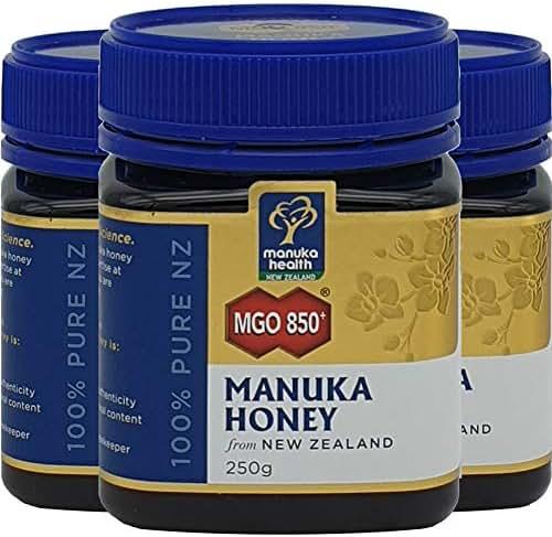 Manuka Health - MGO 850+ Manuka Honey, 100% Pure New Zealand Honey, 8.8 oz (250 g) … (3 Bottle)