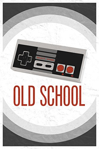 Old School Throwback Retro Video Game Controller Poster 12x18 (Old School Ps2 Controller compare prices)