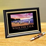 Successories Walk The Talk Penguins Framed Desktop Print
