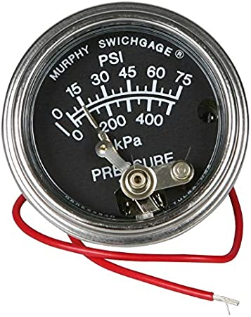 6FT MURPHY 20T-250-6-1//2 250 DEGREE TEMPERATURE GAUGE FOR EQUIPMENT /& CHIPPERS