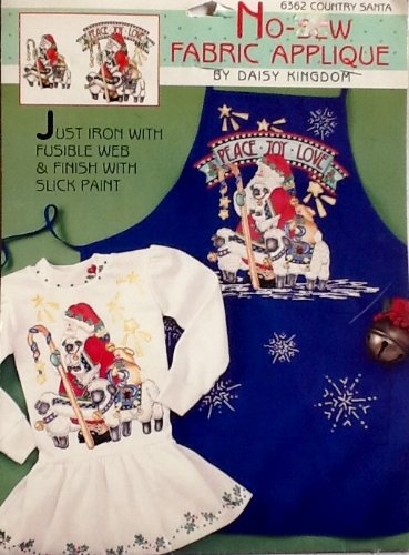 Daisy Kingdom No-Sew Fabric Appliqué #6362 ~ Country Santa ~ Iron-on by DAISY KINGDOM