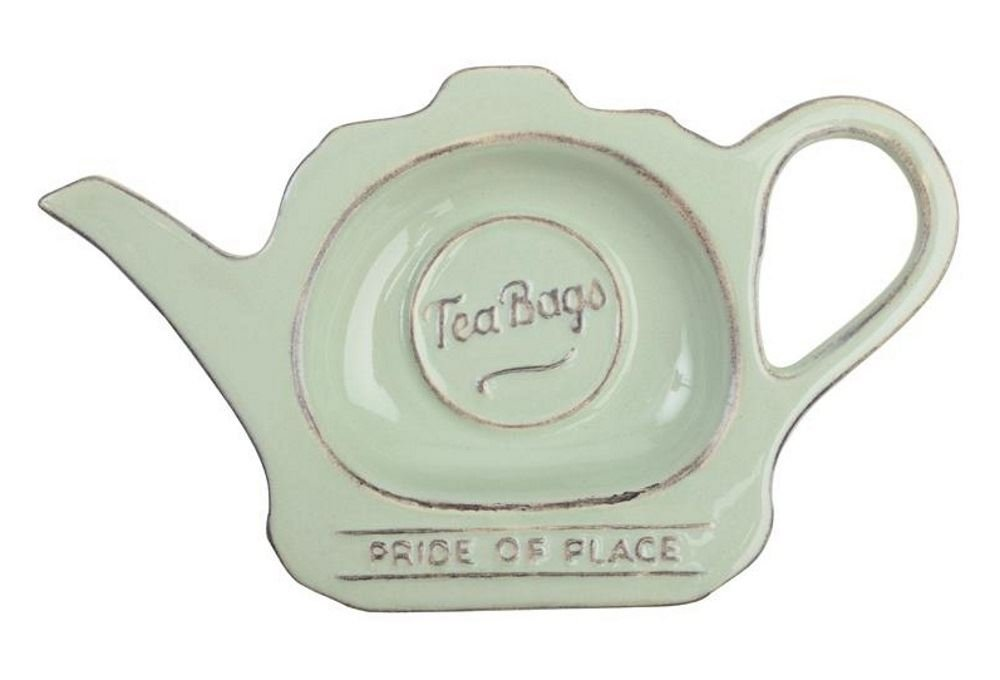 T&G Woodware Pride of Place Tea Bag Tidy in Old Green