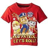Paw Patrol Little Boys' Toddler Group Shot T-Shirt, Red, 2T