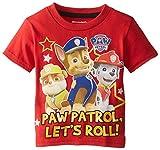 Paw Patrol  Toddler Boys' Group Shot T-Shirt, Red, 3T