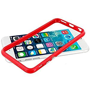 Accessory Planet(TM) Red TPU Bumper Frame with Metal Buttons Case Cover for Apple iPhone 6 Plus (5.5)
