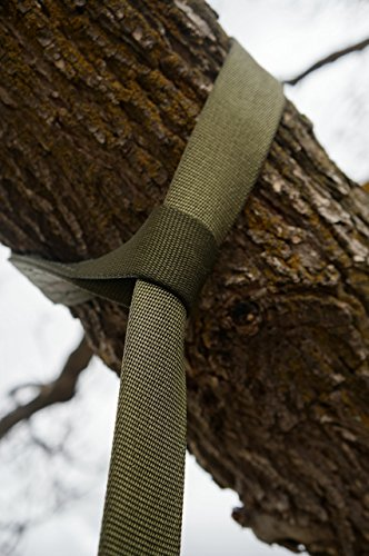 American Made Tree Safe Tree Swing Hanging Kit 5ft Length Military Grade Heavy-Duty Nylon Tree Safe USA by PWRMTN
