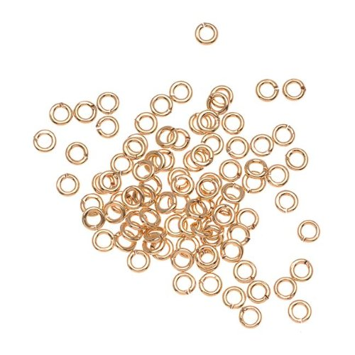 - Beadaholique H20-1387FN 100-Piece Open Jump Rings, 3mm, 22-Gauge, 22K Gold