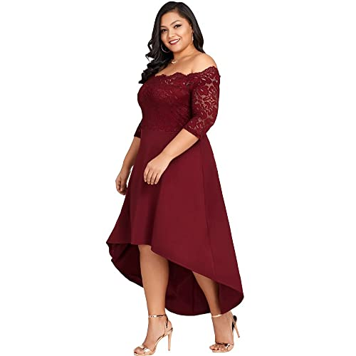 Plus Size Burgundy Dresses: Amazon.com