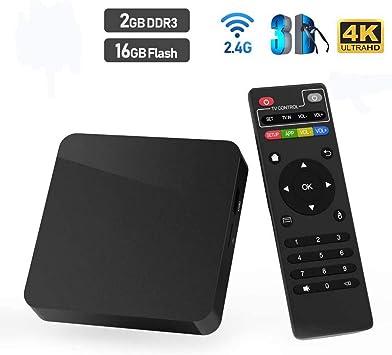 Smart TV Box, Super Android 10.0 TV Box 2GB RAM / 16GB ROM Allwinner H3 Quad-Core Soporte WiFi/Ethernet 4K HDMI Smart TV Box: Amazon.es: Electrónica