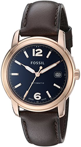 Fossil-FSW1003-Swiss-Made-Automatic-Leather-Watch-Brown
