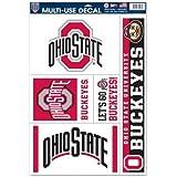 "NCAA Ohio State University 00676014 Multi Use Decal, 11"" x 17"""