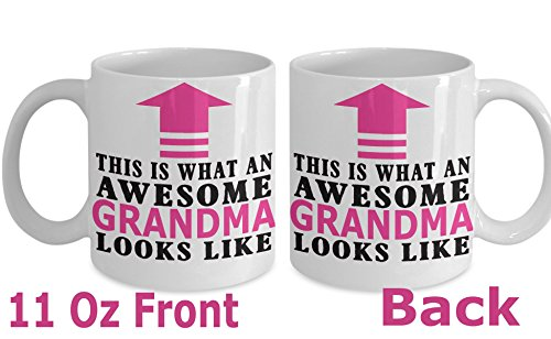 Great Grandma Mug ~ White Ceramic Coffee cup with quote This is What an awesome Grandma Looks like by MoreThings2Come,, gift for first time,gifts idea (11 Oz)